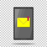 Vector icon mobile phone sms. A new notification message. Email. Notification Royalty Free Stock Photo