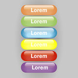 Vector icon multicolored glass glossy button Royalty Free Stock Photos