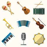 Vector icon of musical equipment Royalty Free Stock Images