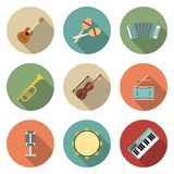Vector icon of musical equipment Stock Image
