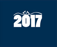 Vector icon new year 2017 Royalty Free Stock Photo