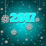 Vector icon new year 2017 Stock Image
