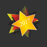 Vector icon new year 2017 Royalty Free Stock Photography