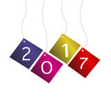 Vector icon new year 2017 Royalty Free Stock Photos
