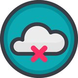 Vector Icon of a no connection in flat style with outline. Pixel perfect.   Royalty Free Stock Image