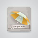 Vector icon with opened umbrella Royalty Free Stock Images