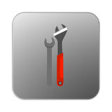 Vector icon orange wrench. Illustration Royalty Free Stock Images