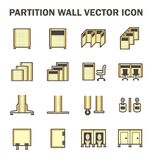 Partition wall icon. Vector icon of partition wall or divide space equipment isolated on white background Royalty Free Stock Photos