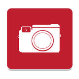 Vector icon of a photo camera Royalty Free Stock Images