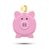 Vector icon of pig bank Stock Photo
