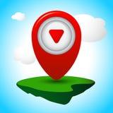 Vector Icon Pin Stock Photo