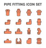 Pipe fitting icon Stock Photo