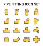 Pipe fitting vector Stock Images