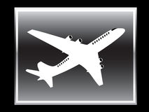 Vector  icon of plane. Stock Photography