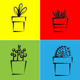 Vector icon for plant Royalty Free Stock Image