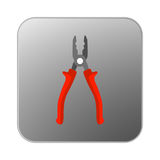 Vector icon pliers with orange handle. Illustration Royalty Free Stock Images
