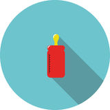 Vector icon Red bottle for feeding Stock Photos