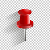 Vector icon red push pin. royalty free illustration