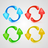 Vector icon refresh color set Royalty Free Stock Image