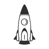 Vector icon rocket royalty free illustration