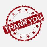 Vector icon round stamp. Aged grunge inscription thank you royalty free illustration