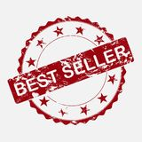 Vector icon round stamp best seller . Aged grunge inscription best seller vector illustration