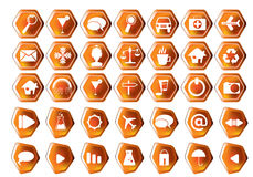 Vector icon set. For each type of your webpage Stock Photos