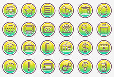 Vector icon set. Vector icons; graphic buttons; symbol images; illustration Stock Images