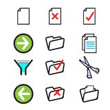 vector icon set vector icon set Royalty Free Stock Images
