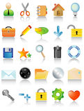 Vector icon set Stock Image