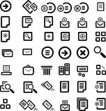 Vector icon set Stock Photos