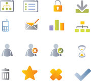 Vector icon set Stock Photo