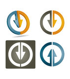Vector icon set. With abstract arrows Royalty Free Stock Photos