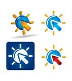 Vector icon set - arrows Royalty Free Stock Photography