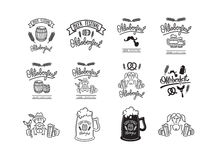 Vector icon set of beer feast Royalty Free Stock Photos