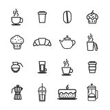 Vector icon set for breakfast Stock Image