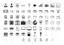 Vector icon set for business and finance Royalty Free Stock Image