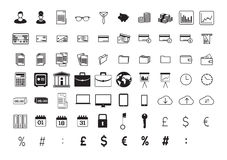 Vector icon set for business and finance Royalty Free Stock Images
