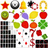Vector Icon Set Casino And Gambling Royalty Free Stock Image