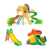 Vector icon set of children playground. Royalty Free Stock Image