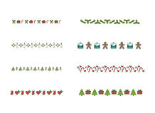 Vector icon set for christmas decoration accessories Royalty Free Stock Photos