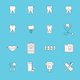 Vector icon set for dental care Stock Images