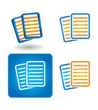 Vector icon set - documents Stock Photos