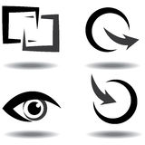 Vector icon set for download and upload Stock Photos