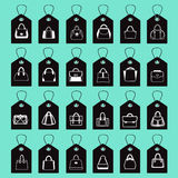 Vector icon Set of Fashion Bags Royalty Free Stock Photography