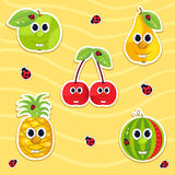 Vector icon set fruit Stock Photo