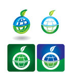Vector icon set - globe Royalty Free Stock Image