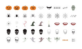 Vector icon set for halloween. On white background Royalty Free Stock Photography