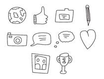 Vector icon set for internet and web icons Royalty Free Stock Photo