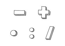 Vector icon set isolated on white background Royalty Free Stock Photos